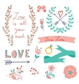 Romantic love collection vector image