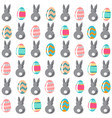 seamless simple pattern with decorativel eggs and vector image vector image
