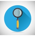 Search Symbol Magnifying Glass Loupe Icon with vector image vector image