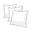 sketch pillow art pillow isolated white pillow vector image vector image
