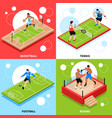 sport court field ring concept vector image vector image