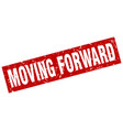 square grunge red moving forward stamp vector image vector image