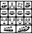 teamwork user icon vector image vector image