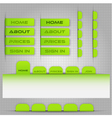 Template for site menu vector image vector image