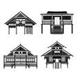 thai architecture pavilion history building vector image vector image
