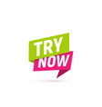 try now isolated icon take a chance sign vector image vector image