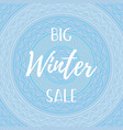 winter mobile banner sale vector image vector image