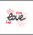 with hand-drawn lettering vector image vector image