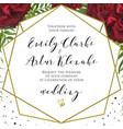 wedding floral stylish invite card design vector image