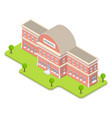 3d isometric school vector image