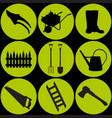 a a set of garden equipment vector image vector image