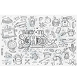 a large set of hand-drawn doodles back vector image vector image