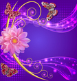 abstract background with flowers and butterflies w vector image
