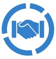 Acquisition diagram icon from Business Bicolor Set vector image