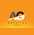 ag a g letter modern logo design with yellow