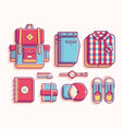 back to campuss school flat vector image vector image