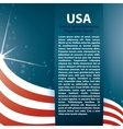 background USA flag and Text vector image vector image