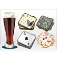 beer coasters vector image