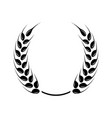 black laurel wreath - a symbol of the winner vector image vector image
