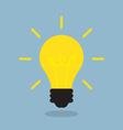 bright light bulb vector image