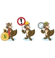 Brown Polecat Mascot with sign vector image vector image