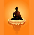 buddha meditating on water lotus flower vector image