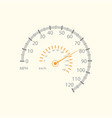 car speed meter design vector image