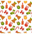 christmas decoration seamless pattern background vector image