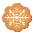 christmas oatmeal cookie icon sweet holiday vector image vector image