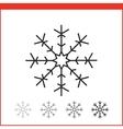 Christmas snowflake icon vector image vector image