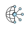 circuit global data technology to center server vector image
