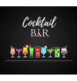 Cocktail icons Cocktail menu vector image vector image