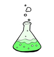 comic cartoon science chemicals vector image