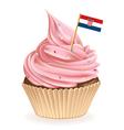 Croatian Cupcake vector image vector image
