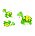 cute turtle toy icon set vector image vector image