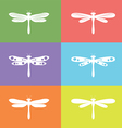 Dragonfly group vector image