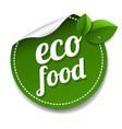 eco food isolated white background vector image vector image
