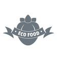 eco fresh food logo simple style vector image