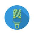 energy saving light fluorescent light bulb vector image vector image
