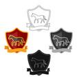 equestrian blaze icon in cartoonblack style vector image