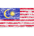 Flag of Malaysia with old texture vector image