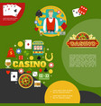 flat casino and poker template vector image