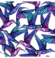 Flying tropical stylized colorful hummingbirds vector image vector image