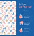 france travel and tourism concept infographics vector image vector image