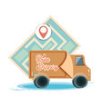 free shipping service with truck icon vector image vector image
