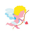 funny cupid with bow and arrow isolated icon vector image