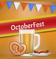 german oktoberfest concept banner realistic style vector image vector image