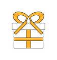 gift box whit banner bow vector image vector image