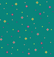 green 8-bit abstract background with cute flowers vector image vector image