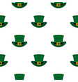 green top hat with buckle pattern seamless vector image vector image